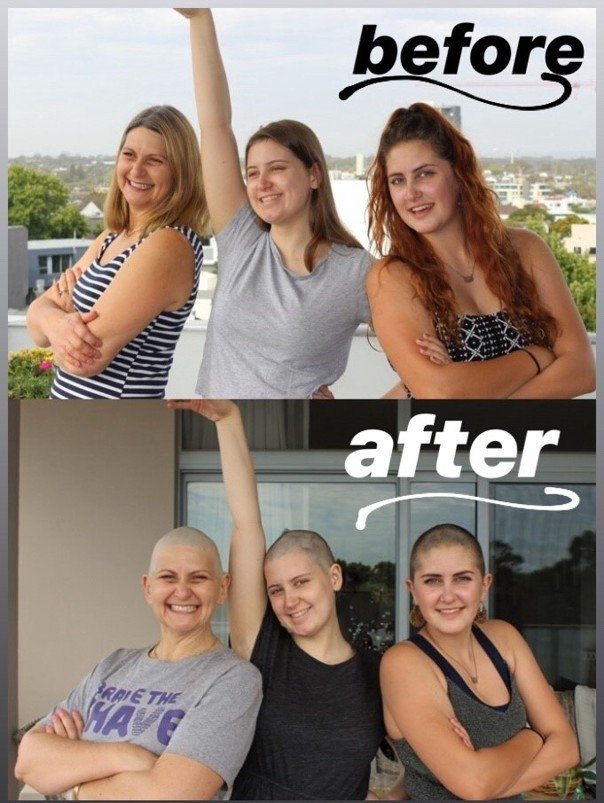 brave the shave before and after