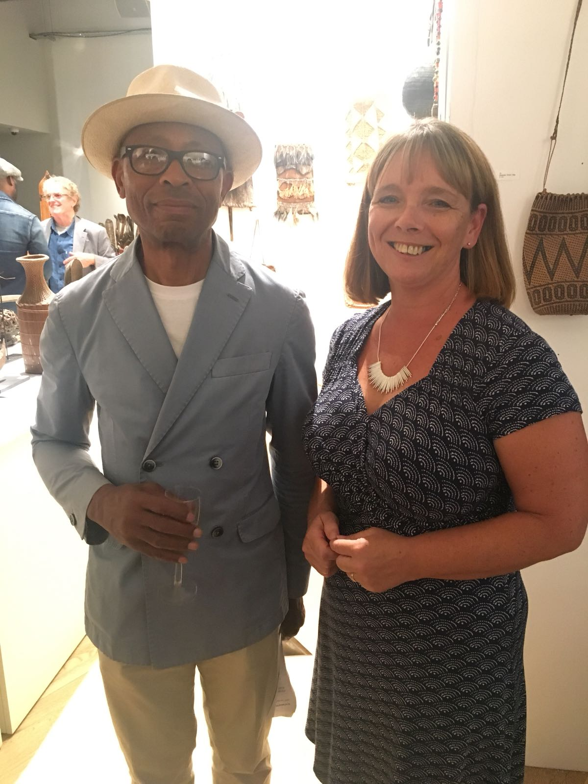 Ronnie Archer Morgan pictured with EdUKaid Programme Director Teresa Wells