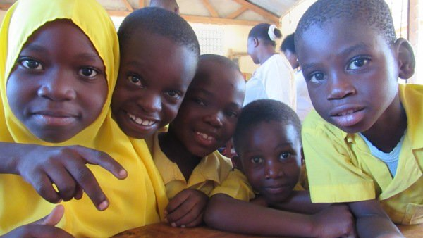A group of children in Tanzania