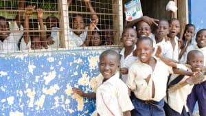 children at school in Tanzania